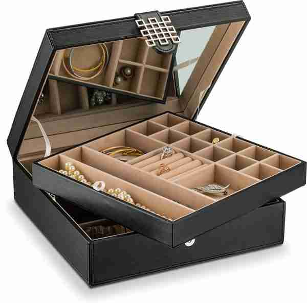 Glenor Co 28 Section Jewelry Box - 2 Layer
