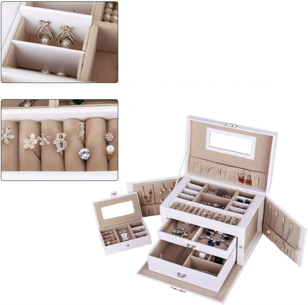 SONGMICS Jewelry Box, Girls Jewelry Organizer