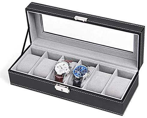 NEX 6 Slot Leather Watch Box Display Case
