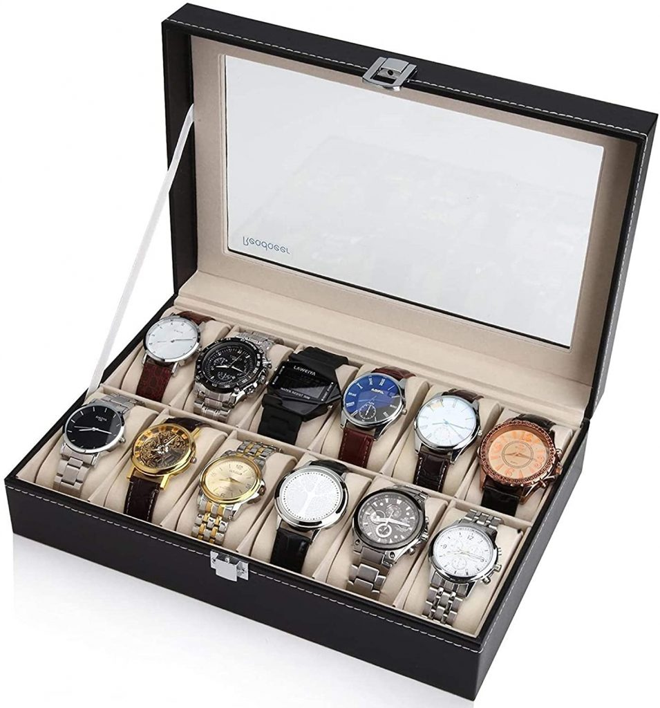 Readaeer 12 Watch Box Case Organizer for Men & Women